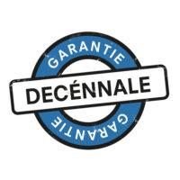 Logo garantie décennale pour piscines en béton armé Leaderpool